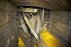Houten sluis van de dam Royalty-vrije Stock Foto