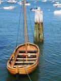 Houten smerig vastgelegd in Plymouth-Haven Massachusetts royalty-vrije stock afbeelding