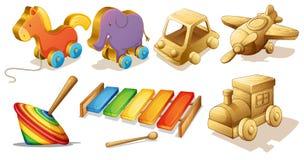 Houten Speelgoed royalty-vrije illustratie