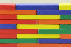 Houten Speelgoed of Toy Blocks royalty-vrije stock fotografie