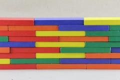 Houten Speelgoed of Toy Blocks stock afbeeldingen