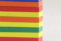 Houten Speelgoed of Toy Blocks stock afbeelding