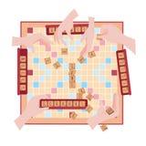 Houten spel Woorden van tegelbrieven winnaar Royalty-vrije Stock Foto