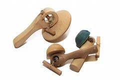 Houten Spinnend Speelgoed royalty-vrije stock fotografie