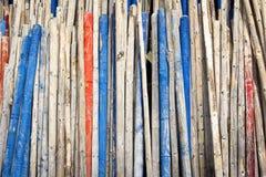 Houten staaf, houten pool Stock Foto