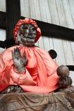 Houten standbeeld van Boedha Binzuru. Royalty-vrije Stock Foto's