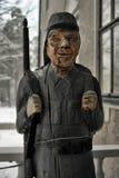 Houten standbeeld van een militair Stock Afbeelding