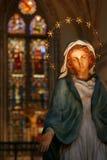 Houten standbeeld van Mary royalty-vrije stock foto's