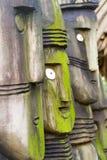 Houten standbeelden Stock Foto's
