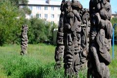 Houten standbeelden Royalty-vrije Stock Afbeelding