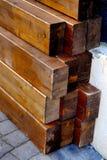 Houten stapels Stock Foto
