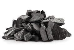 Houten steenkool stock afbeelding