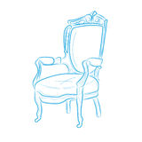 Houten stoel stock illustratie