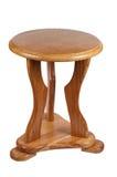 Houten stoel die op een witte achtergrond wordt geïsoleerdh. Royalty-vrije Stock Afbeelding