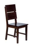 Houten stoel met geïsoleerd Royalty-vrije Stock Foto