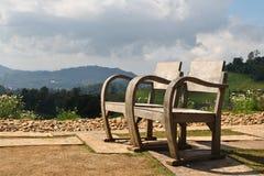 Houten stoelen. Royalty-vrije Stock Afbeeldingen