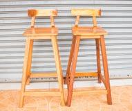 Houten stoelen Royalty-vrije Stock Foto