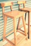 Houten stoelen Royalty-vrije Stock Afbeeldingen
