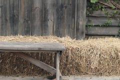 Houten stoelen in de tuin Royalty-vrije Stock Afbeelding