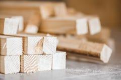 Houten stralen en planken royalty-vrije stock foto