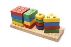 Houten stuk speelgoed Stock Fotografie