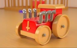 Houten stuk speelgoed royalty-vrije illustratie