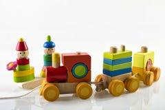 Houten stuk speelgoed Royalty-vrije Stock Fotografie