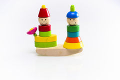 Houten stuk speelgoed Stock Foto's