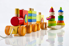 Houten stuk speelgoed Royalty-vrije Stock Foto