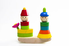 Houten stuk speelgoed Royalty-vrije Stock Foto's