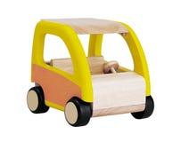 Houten stuk speelgoed auto Stock Fotografie