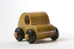 Houten stuk speelgoed auto Stock Afbeelding