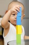 Houten stuk speelgoed blokken Royalty-vrije Stock Foto's