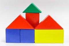Houten stuk speelgoed blokken Stock Foto's