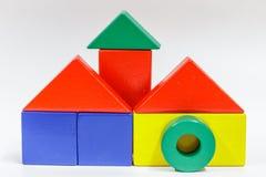 Houten stuk speelgoed blokken Stock Foto