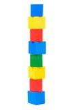 Houten stuk speelgoed blokken Stock Afbeelding