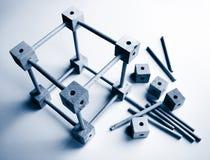Houten stuk speelgoed bouwstenen Royalty-vrije Stock Afbeeldingen