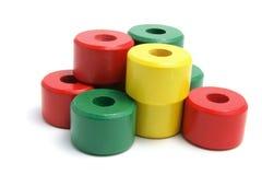 Houten Stuk speelgoed dat Ringen stapelt Royalty-vrije Stock Fotografie