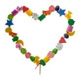 Houten stuk speelgoed hart Royalty-vrije Stock Afbeelding
