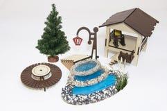 Houten stuk speelgoed model Stock Afbeelding