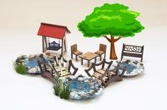 Houten stuk speelgoed model Stock Foto's