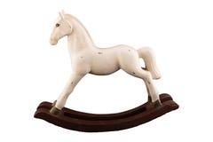 Houten stuk speelgoed paard Stock Fotografie