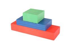 Houten stuk speelgoed piramide Stock Afbeelding