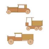 Houten stuk speelgoed retro auto Royalty-vrije Stock Afbeeldingen