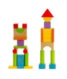 Houten stuk speelgoed robot Royalty-vrije Stock Foto