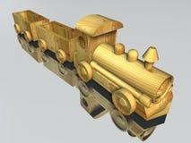 Houten stuk speelgoed trein Royalty-vrije Stock Afbeelding