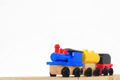 Houten stuk speelgoed trein Royalty-vrije Stock Fotografie