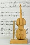 Houten stuk speelgoed viool Stock Foto