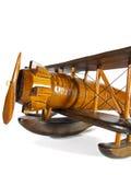 Houten stuk speelgoed - vliegtuig Stock Foto's