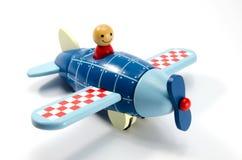 Houten stuk speelgoed vliegtuig Royalty-vrije Stock Fotografie